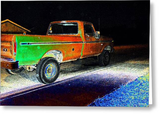 Old Truck At Night Greeting Card