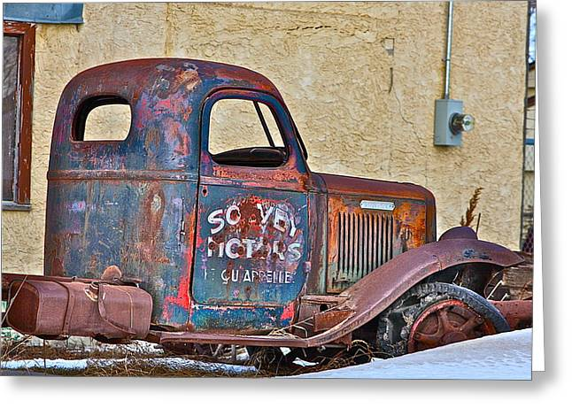 Greeting Card featuring the photograph Old Truck by Johanna Bruwer