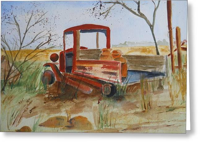 Old Trucks Never Die Greeting Card
