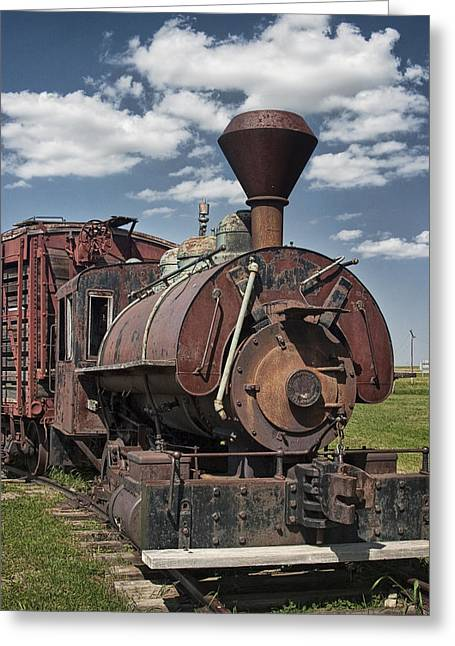 Old Vintage 1880's Railroad Train No.0394 Greeting Card by Randall Nyhof
