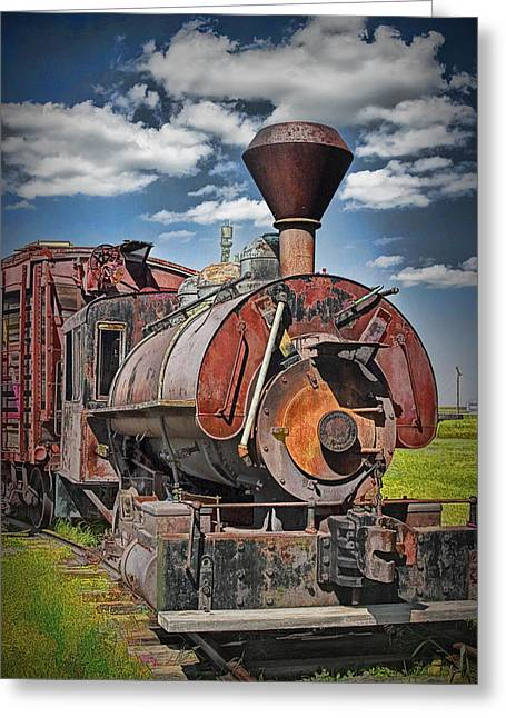 Old Vintage 1880's Railroad Train No.0394.4 Greeting Card by Randall Nyhof