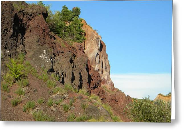 Old Volcano In Romania Greeting Card by Manuela Constantin