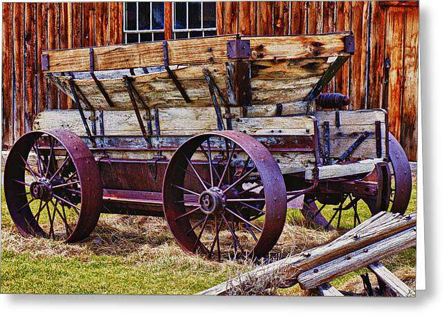 Old Wagon Bodie Ghost Town Greeting Card by Garry Gay