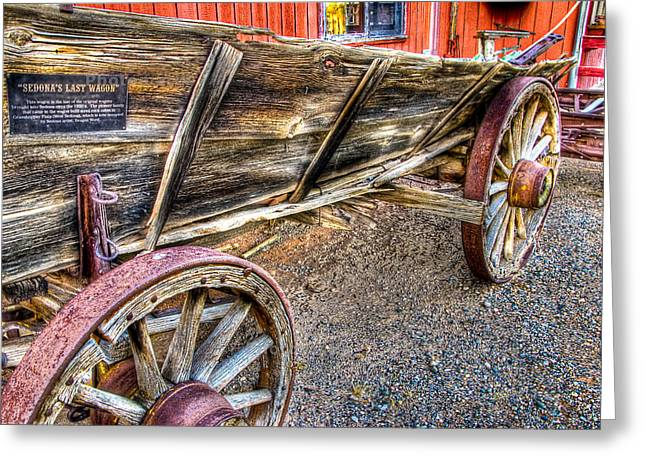 Old Wagon Greeting Card by Jon Berghoff