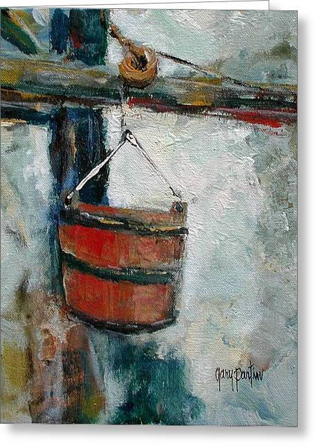 Old Well Bucket Greeting Card