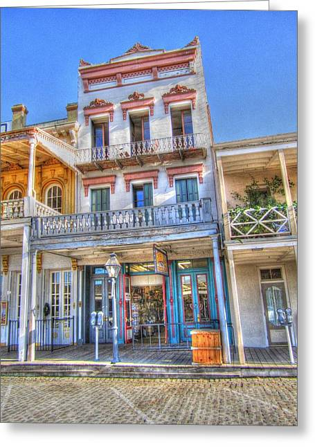 Old West Architecture Greeting Card by Barry Jones