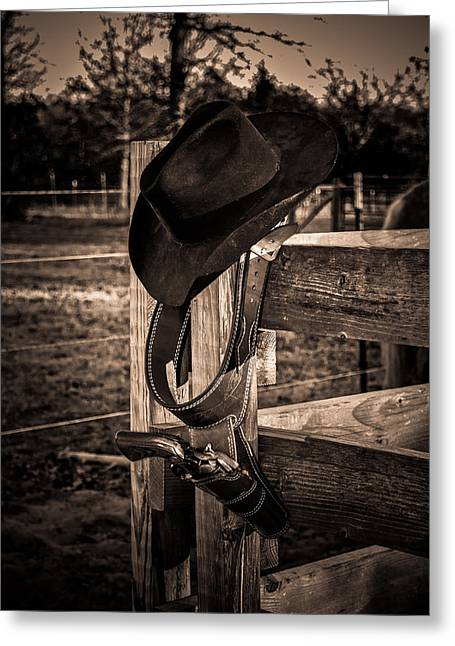 Old West Greeting Card by Doug Long