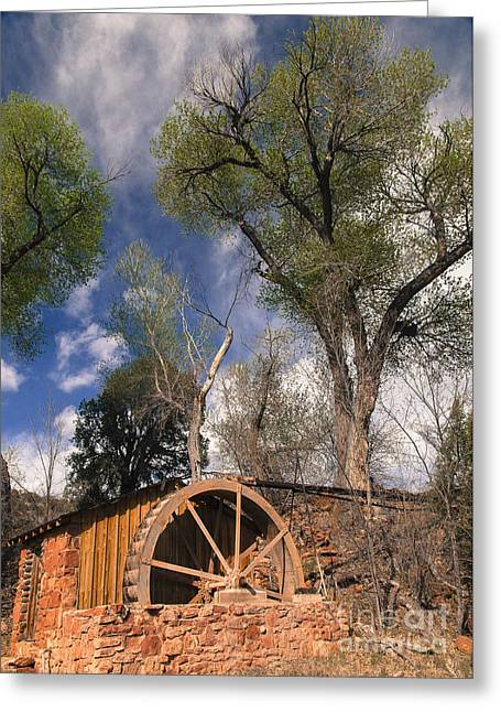 Old West Water Mill 1 Greeting Card