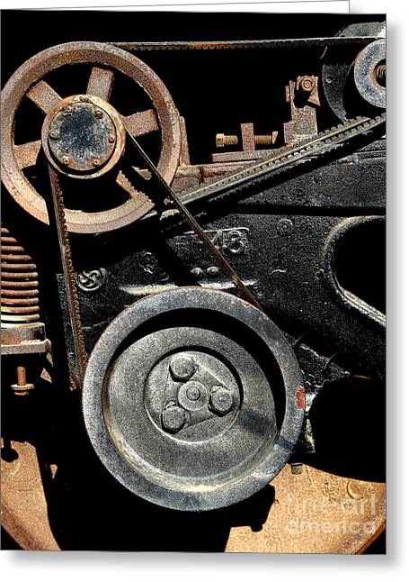 Old Western Pacific Caboose Train Wheel . 7d10626 Greeting Card by Wingsdomain Art and Photography
