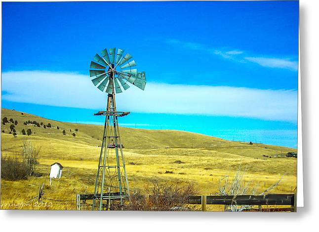 Greeting Card featuring the photograph Old Windmill by Shannon Harrington