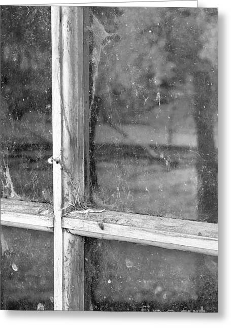 Old Window Reflection Greeting Card