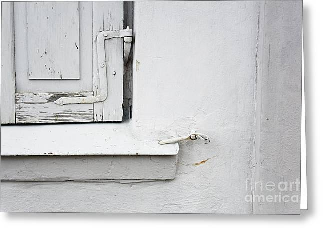 Old Window Shutters Detail Greeting Card