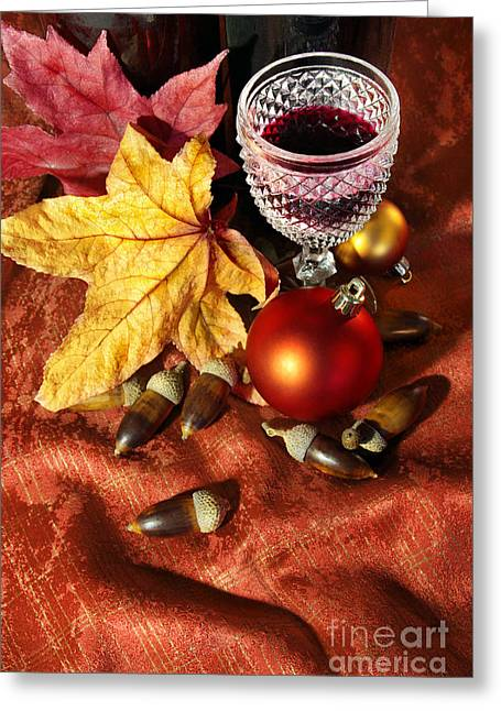 Old Wine Glass Greeting Card by Carlos Caetano