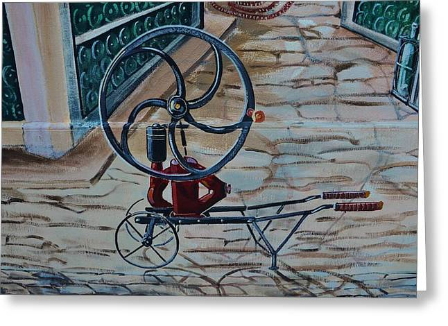Old Wine Pump Greeting Card by Dany Lison