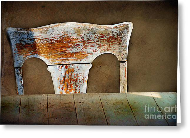 Old Wooden Chair Greeting Card