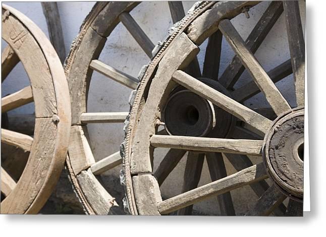 Wagon Wheel Hub Greeting Cards Fine Art America