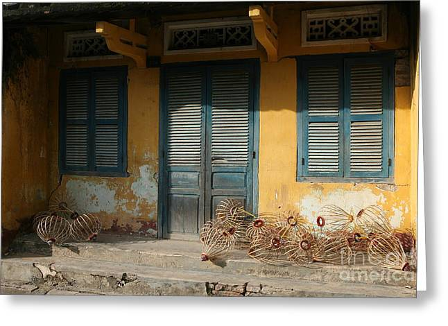 Old Yellow House In Vietnam Greeting Card by Tanya Polevaya