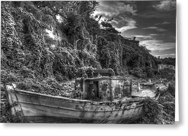 Oldboat Greeting Card by Stavros Argyropoulos