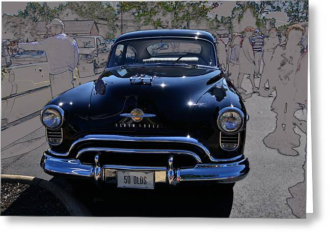 Olds 50 Greeting Card by Larry Bishop