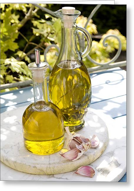 Olive Oil Greeting Card by Erika Craddock