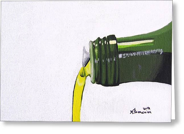 Olive Oil Greeting Card by Kayleigh Semeniuk