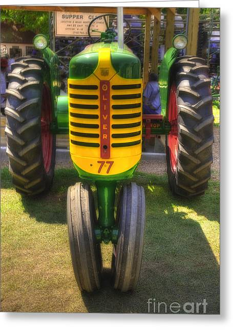 Greeting Card featuring the photograph Oliver Crop Row 77 by Trey Foerster