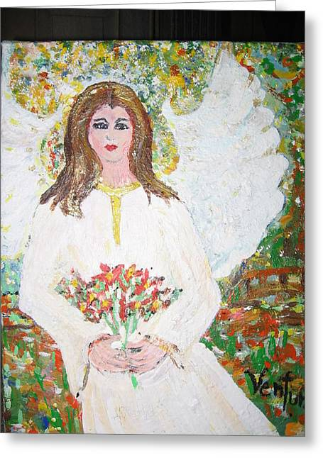 Olivia The Angel Greeting Card