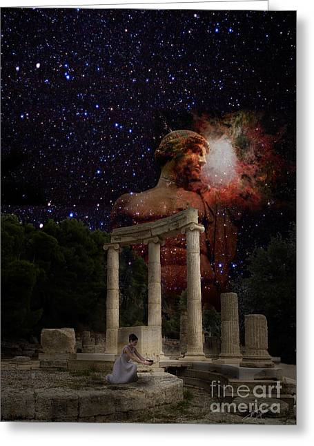 Olympia's Temple Greeting Card by Pavlos Vlachos