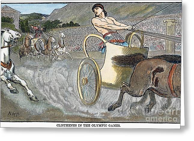 Olympic Games, Antiquity Greeting Card by Granger