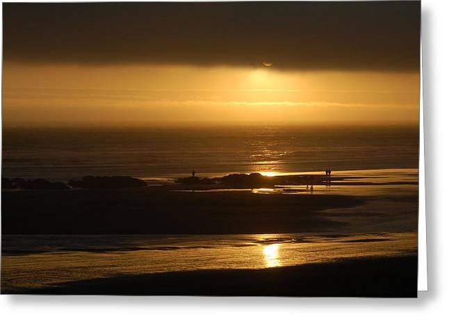 Olympic Sunset Greeting Card