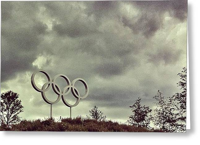 #olympicpark #olympics #london2012 Greeting Card by Samuel Gunnell