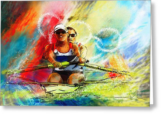 Olympics Rowing 03 Greeting Card