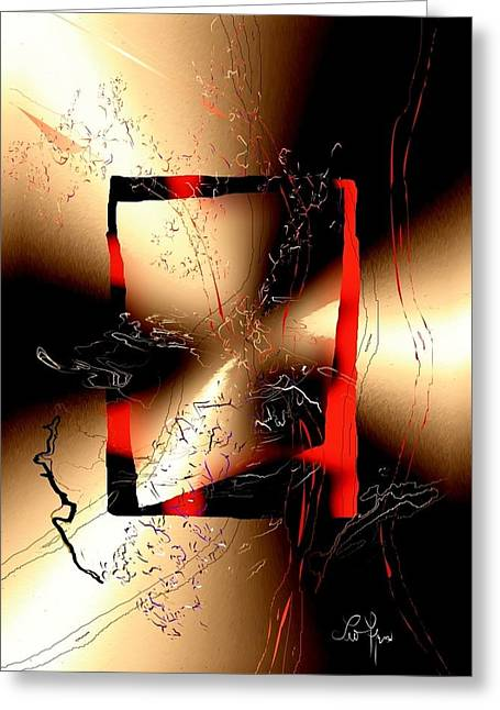Greeting Card featuring the digital art Omen by Leo Symon