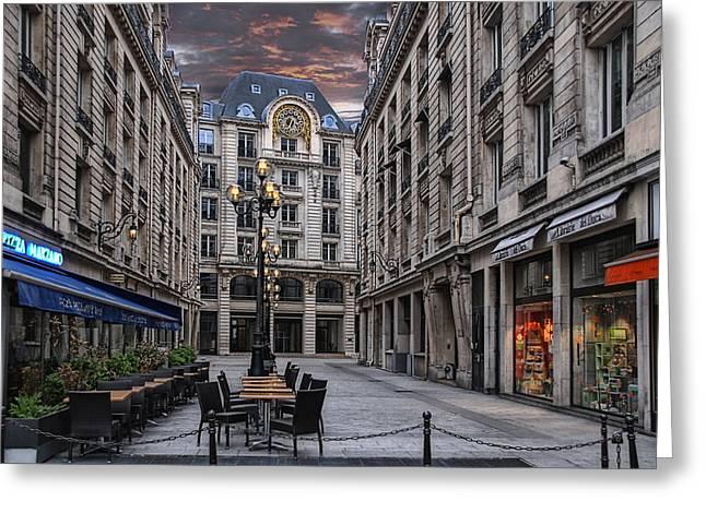 on an early sunday morning in Paris Greeting Card by Joachim G Pinkawa
