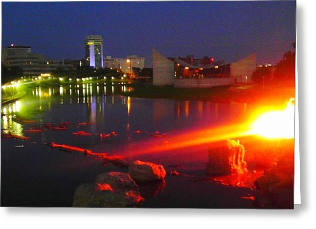On Fire Greeting Card by David Alvarez