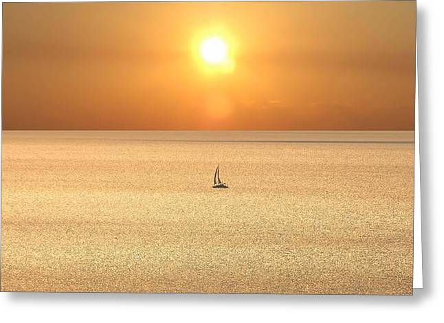 On Golden Seas Greeting Card
