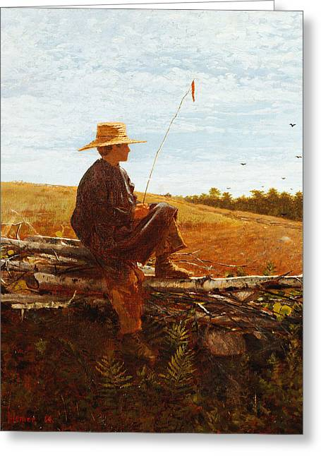 On Guard Greeting Card by Wisnlow Homer