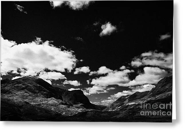On The A82 Road In Glencoe Highlands Scotland Uk Greeting Card