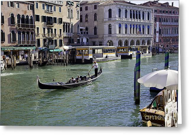 On The Canal In Venice Greeting Card