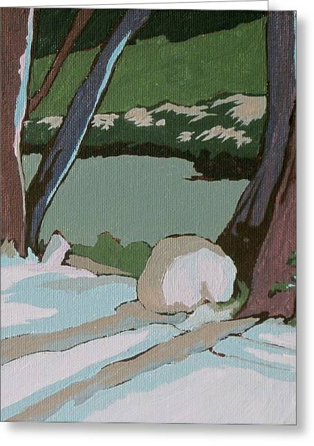 On The Creek Greeting Card by Sandy Tracey