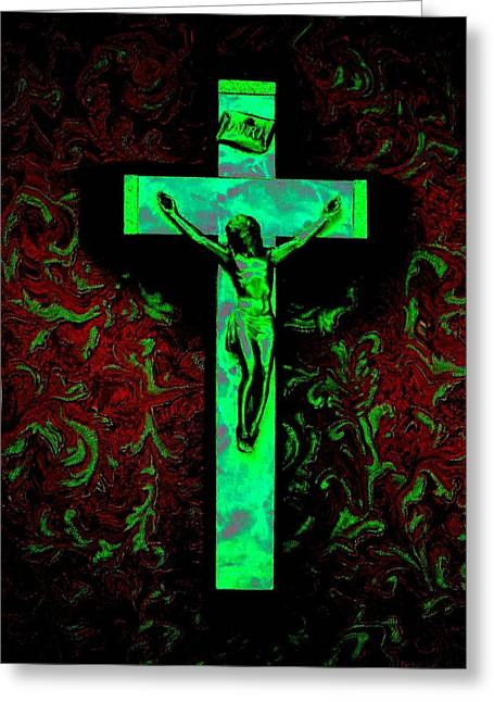 Greeting Card featuring the photograph On The Cross by David Pantuso