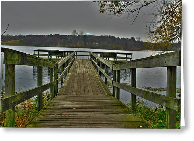 On The Dock Greeting Card by David Wohlfeil