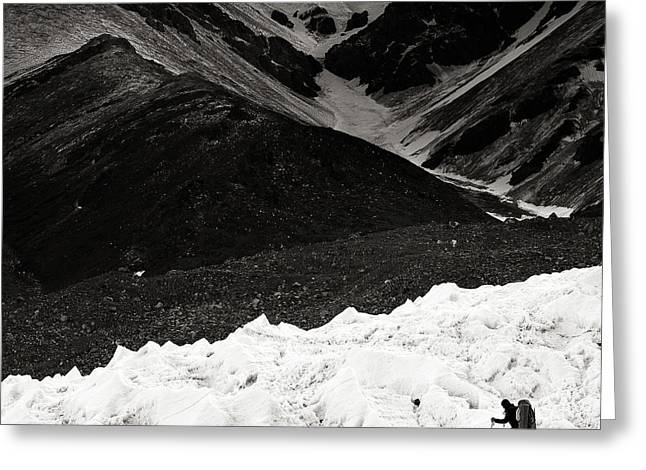 On The Glacier Greeting Card