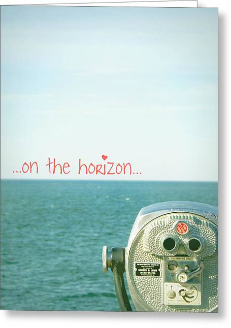 Greeting Card featuring the photograph On The Horizon by Robin Dickinson
