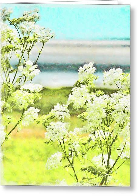 Greeting Card featuring the digital art On The Mudflats Of Pegwell Bay by Steve Taylor