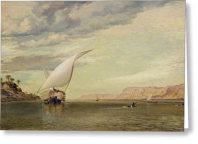 On The Nile Greeting Card by Edward William Cooke