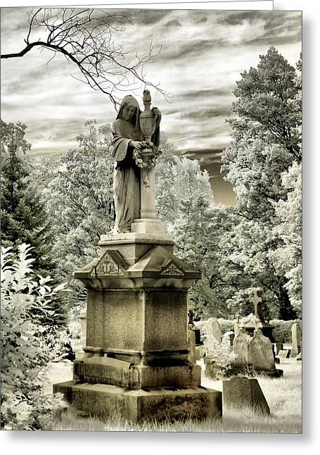 On The Other Side Greeting Card by Gothicrow Images