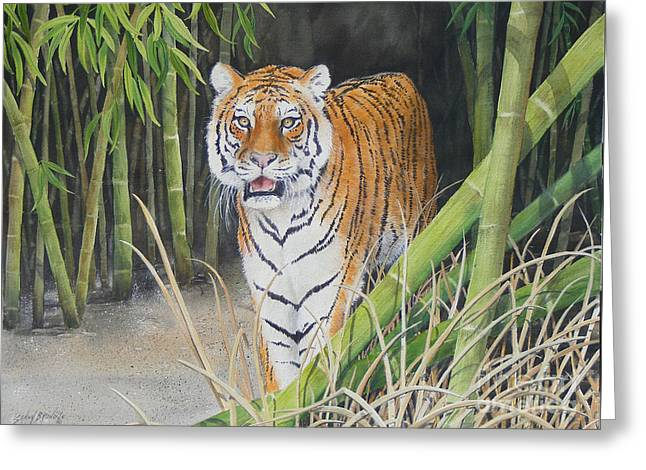 On The Prowl  Sold Prints Available Greeting Card