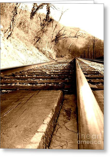 Greeting Card featuring the photograph On The Rail by Amy Sorrell