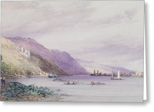 On The Rhine Greeting Card by William Callow